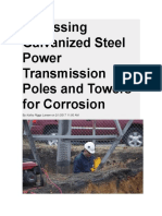 Assessing Galvanized Steel Power Transmission Poles and Towers for Corrosion