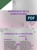 Supremacía de La Constitución