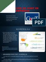 Aplicación de COBIT en Empresas