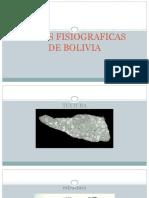 ZONAS FISIOGRAFICAS DE BOLIVIA
