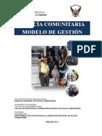Policia Comunitaria Modelo de Gestion Febrero 2014 Ultimo