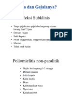 Gejala Klinis Polio