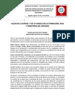 EL VALOR DE LA ESPOSA Y LA FAMILIA EN LA FORMACION VIDA Y MINISTERIO DEL DIACONO