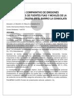 Analisi Comparativos de Emisiones Contaminantes de Fuentes Fijas y Moviles de La Ciudad de Cartagena en El Barrio La Consolata