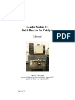 Batch Reactor for Catalysis