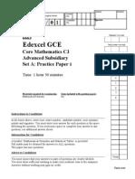C3 Practice Paper A1