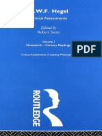 Robert Stern Gwf Hegel Critical Assessments Vol i Nineteenth Century Readings Theoryleaks