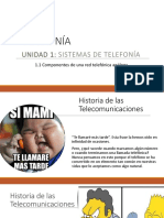 Telefonía Sistemas de Telefonía