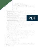cuestionario de derecho procesal del trabajo