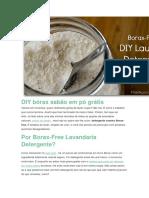 DIY Bórax Sabão Em Pó Grátis