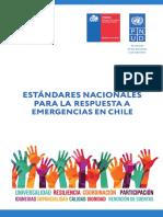 Estandares nacionales para la respuesta a emergencias en Chile