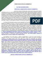 IDENTIDAD Y OBJETIVOS DE LA RENOVACIÓN CATÓLICA CARISMÁTICA.docx