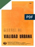 Manual MINDUR de Vialidad Urbana