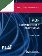 Indenpendcia y objetividad del auditor interno