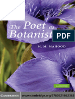 M. M. Mahood - The Poet as Botanist