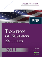 South Western Federal Taxation 2011 Taxation of Bu