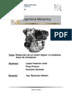 Reducción de Un Motor Sigma 1,6 Mediante Leyes de Semejanza