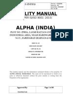 Quality Manual 9001 2015