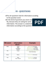 WH Question Formation