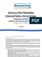 Programas de Estudio Educación Primaria r.m.00256-19