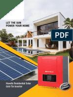 Catalogue Havells Residential Solar Grid Tie Inverter