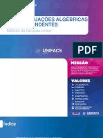 Aula 08 - EQUAÇÕES ALGÉBRICAS E TRANSCENDENTES (MÉTODO DA ITERAÇÃO LINEAR) (1).pptx