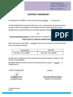 Contract Addendum