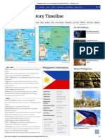 Philippines Time Line Chronological Timetable of Events