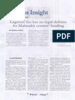 Malaya, Aug. 29, 2019, Lagman Go has no legal defense for Malasakit centers funding.pdf