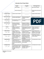 event planning rubric - alternative event project template luc patberg