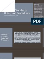 Teaching Standards, Rules, And Procedures