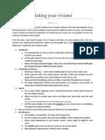 Making your résumé ideas.pdf
