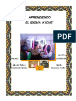 Manual Aprendiendo El Idioma K'Iche' Estudiante