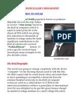 Our Chancellor Dabbala Rajagopal Reddy Biography