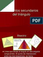Elementos secundarios del triánguloPDF