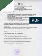 MPSM Admission Detail