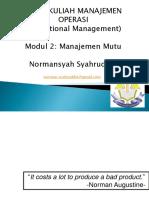 Managemen Mutu (presentasi)