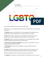 LGBTQ Qué Dice La Biblia
