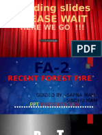 Recent forest fire ppt, class 10 science project