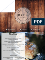 Menús Grupo Batik 2018-2