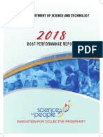 Philippine Department of Science and Technology Annual Report for 2018
