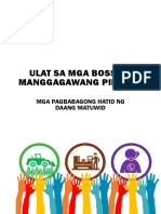DOLE 2015 Annual Report Ulat Sa Mga Boss (Philippine Department of Labor and Employment)