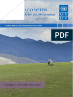 WHERE to GO WHEN - A Resource Guide for UNDP Personnel