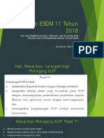 Permen ESDM 11 Tahun 2018