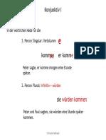 VK-Konjunktiv I Präsens
