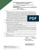 Surat Tugas Tim Pembahas RPJMD Kab. Kerinci 2014_2019 DPRD