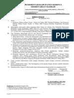 Surat Tugas TAPD Pembahasan KUA_P Dan PPAS_P 2014 Di Ruang Utama