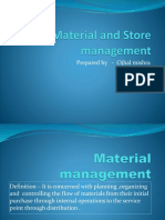 ppt on material and store management