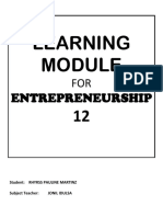 Learning Modules Entrep 12