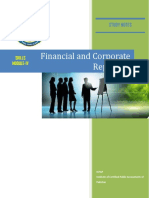 Financial and Corporate Reporting